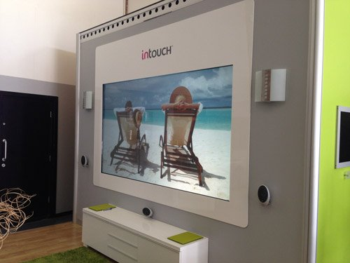 digital glass 100-inch-ultra-short-throw-screen