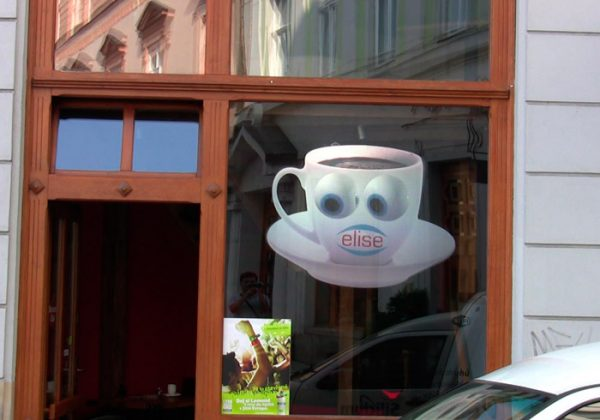 high gain rear projection film czech cafe