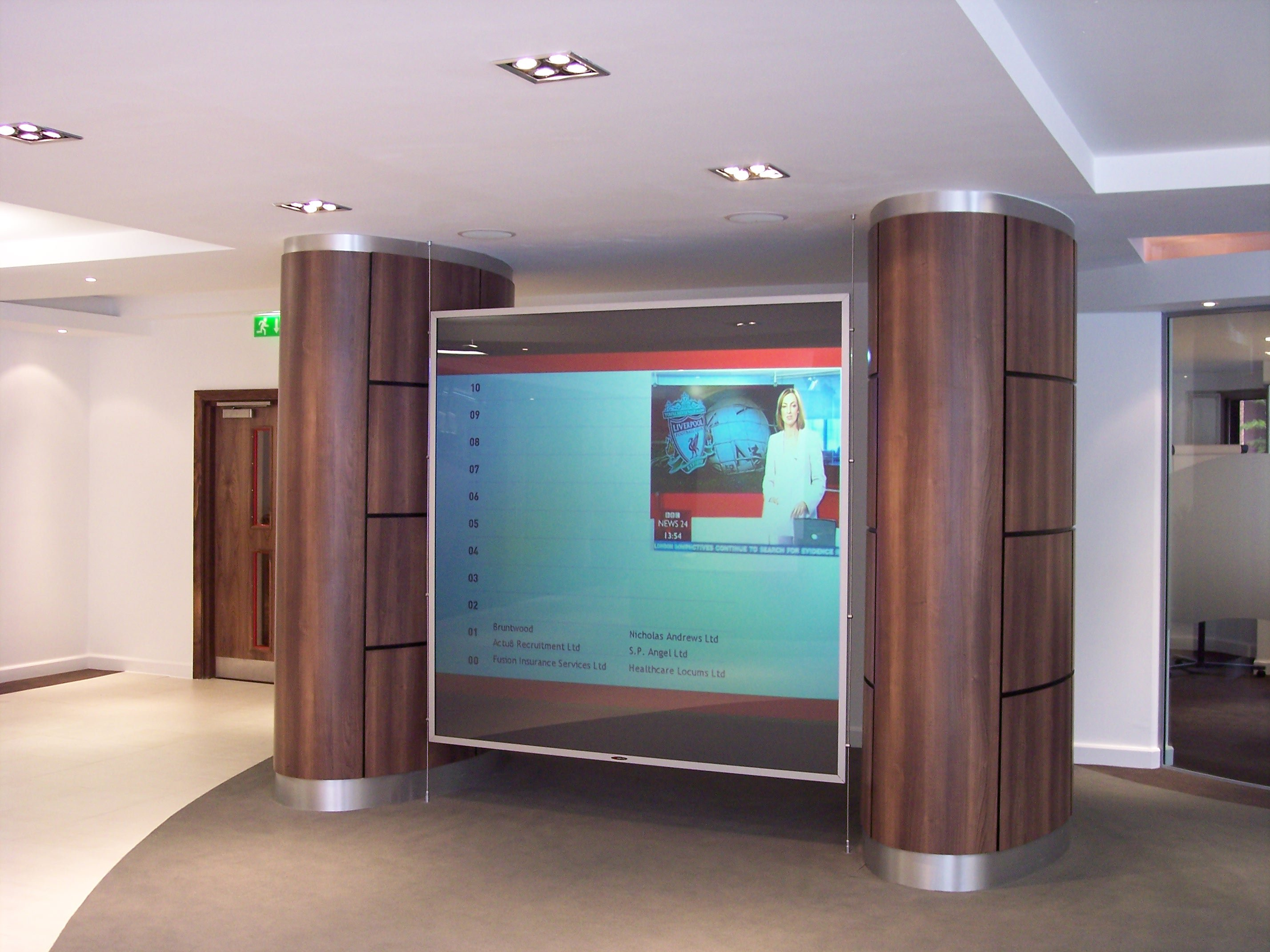 pr -diffusion rear projection screen bbc offices