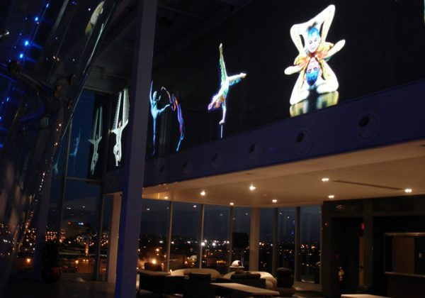 switchable smart glass projection screen cirque du soleil
